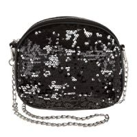 Black Sequin Shoulder Bag - The Perfect Size